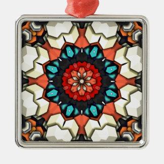 Bunte konzentrische Würfel Silbernes Ornament