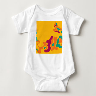 Bunte Kreativität Baby Strampler