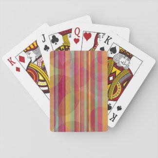 Bunte Kreise und Streifen Spielkarten