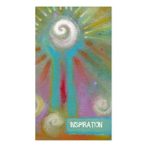 Bunte künstlerische inspirational Malerei des Visitenkartenvorlagen