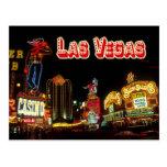 Bunte Leuchtreklamen, Las Vegas, Nevada Postkarte