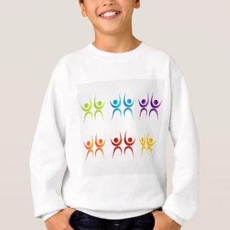 Bunte Leute der abstrakten Leute Sweatshirt