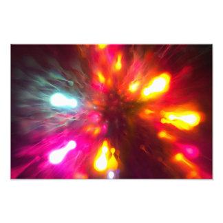 Bunte Lichter Fotodruck