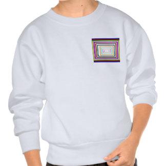Bunte Linie Kunst-Quadrat-Rechteck-Grafiken Pullover