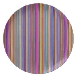 Bunte Linien Streifen graphi der kreativen Melaminteller