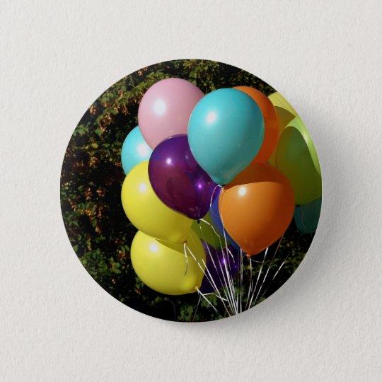 Bunte Luftballons Runder Button 5,7 Cm