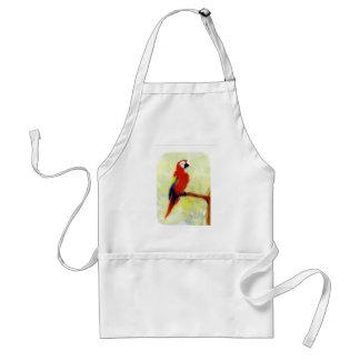 Bunte Macaw-Vogel-Kunst Schürze