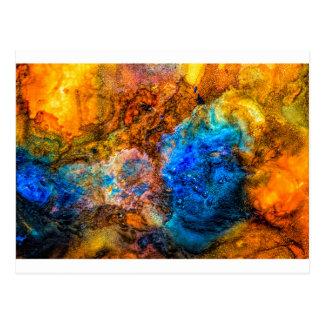 Bunte Malerei der abstrakten Postkarte