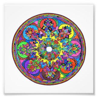 Bunte Mandala Fotodruck