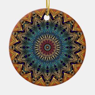 Bunte Mandala-Kreis-Keramik-Verzierung Keramik Ornament