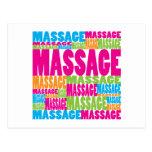 Bunte Massage Postkarten