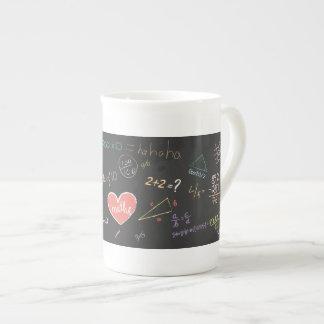Bunte Mathematik-Formel-Tasse Porzellantasse
