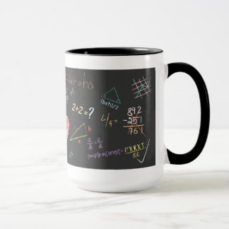 Bunte Mathematik-Formel-Tasse Tasse