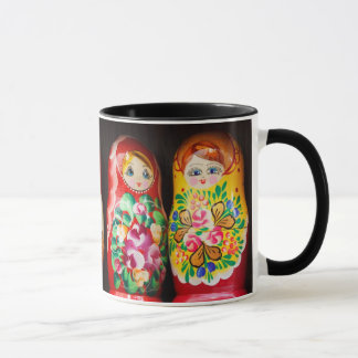 Bunte Matryoshka Puppen Tasse