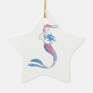 Bunte Meerjungfrau Keramik Ornament