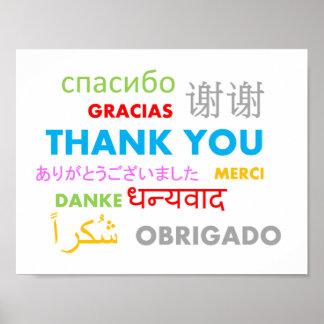 Bunte mehrfache Sprache danken Ihnen Poster