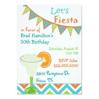 Bunte mexikanische Fiesta-Geburtstags-Party Karte