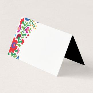 Bunte mexikanische Stickerei-Raum-Platzkarte Platzkarte