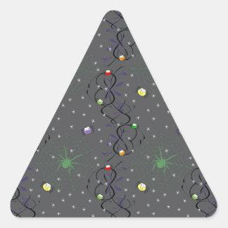 Bunte Minispinnen Dreiecks-Aufkleber