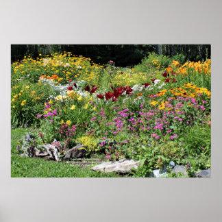 Bunte mittlere Sommer-Gärten! 2, 24x16 Poster
