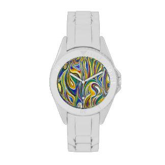 Bunte moderne Kunst Armbanduhr