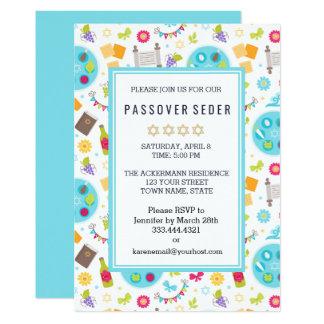 Bunte moderne Passahfest Sedar Einladungen