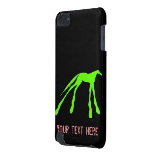 Bunte moderne Pferde auf Schwarzem iPod Touch 5G Hülle