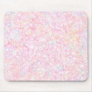 Bunte moderne Schnüre - Perlen-Pastell Mousepad