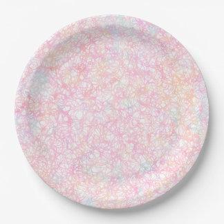 Bunte moderne Schnüre - Perlen-Pastell Pappteller