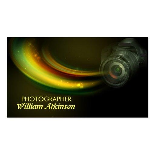 bunte moderne Visitenkarte des Fotografen