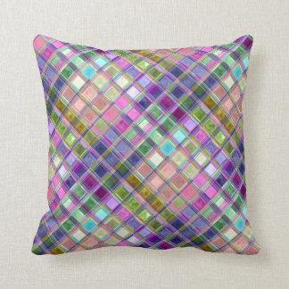 Bunte Mosaik-Glas-Kunst-Kissen Zierkissen
