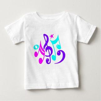 Bunte musikalische Anmerkungen Baby T-shirt
