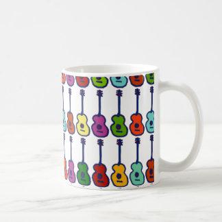 bunte Musikinstrumente Kaffeetasse