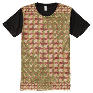 Bunte Muster der Künste-Grafiken T-Shirt Mit Komplett Bedruckbarer Vorderseite