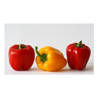 bunte Nahrung des Gemüses des Paprikas Visitenkarten