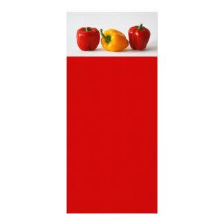 bunte Nahrung des Gemüses des Paprikas Vollfarbige Werbekarte