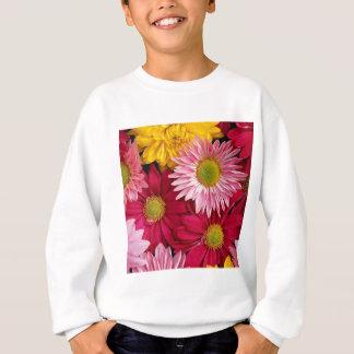 Bunte Natur-Gänseblümchen-Blumen-Blumenblätter Sweatshirt