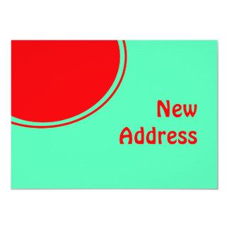 Bunte neue Adresse 11,4 X 15,9 Cm Einladungskarte