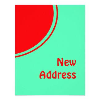 Bunte neue Adresse Personalisierte Einladungskarte