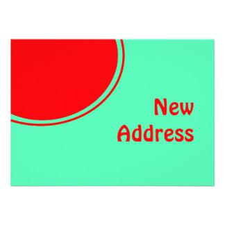 Bunte neue Adresse Individuelle Einladungskarten