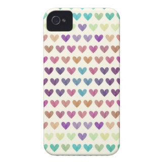 Bunte niedliche Herzen IV iPhone 4 Hüllen