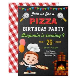 Bunte niedliche Pizza-Kindergeburtstag-Party Karte