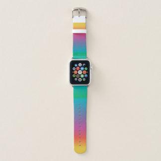 Bunte niedliche Regenbogen Ombre Farben Apple Watch Armband