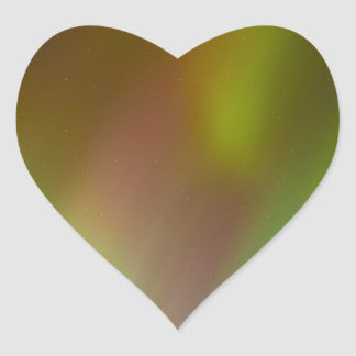 Bunte Nordlichter Herz-Aufkleber