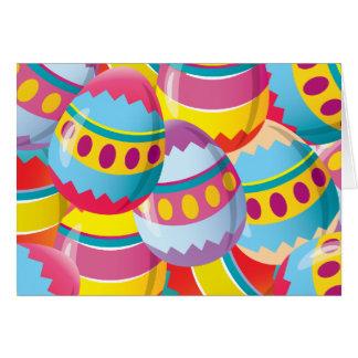 Bunte Ostereier - Fiesta-Farben Karte