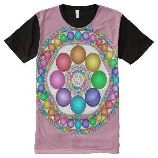 Bunte Ostern-Geist-Mandala-Kunst T-Shirt Mit Bedruckbarer Vorderseite