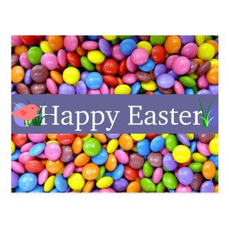 Bunte Ostern-Süßigkeiten Postkarte