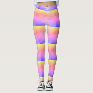 Bunte Pastelle Leggings