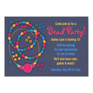 Bunte Perlen-Schmuck-Party Einladungen