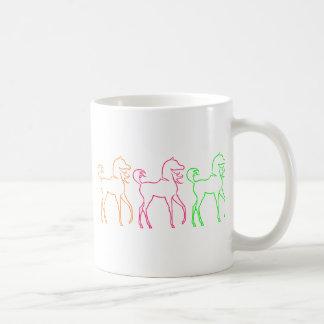Bunte Pferde Kaffeetasse